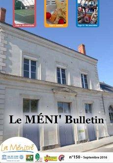 Méni'Bulletins N°150 - Septembre 2016 - PDF - 1.1Mo